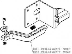 Zespół blokady rygla III ( ALU ) - Prawy