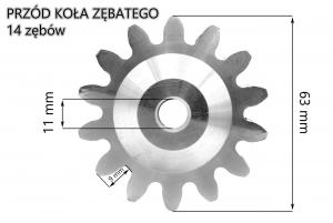Koło zębate M-4 Wiśniowski