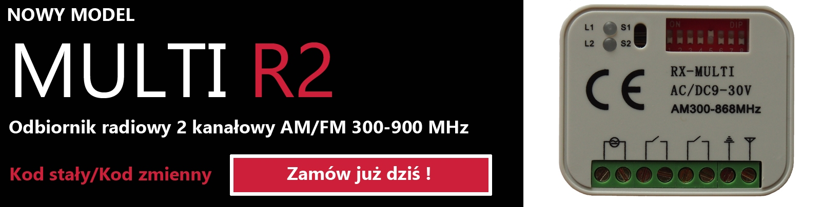 Odbiornik radiowy MULTI R2 300-900 MHz