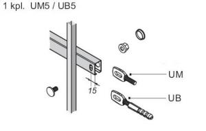 Akcesoria UM5 do ogrodzeń Wiśniowski