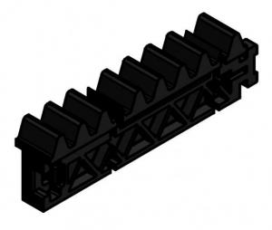 Listwa zębata M4; L=600mm ; zamek