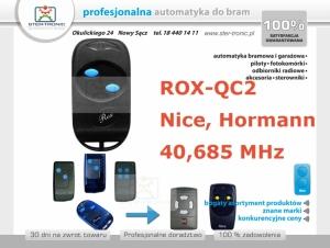 Pilot samokopiujący ROX-QC2 40.685, 30.875, 30.900, 26.995 MHz Nice BIO i Hormann 40.685 MHz