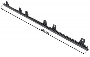 Listwa zębata nylonowa KEY 1m 800kg