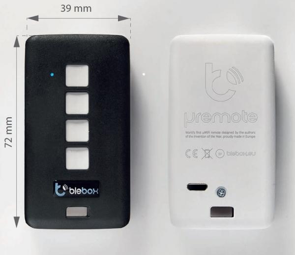 uRemote Basic BIAŁY/CZARNY - Pilot z plastikowym wykończeniem - WiFi