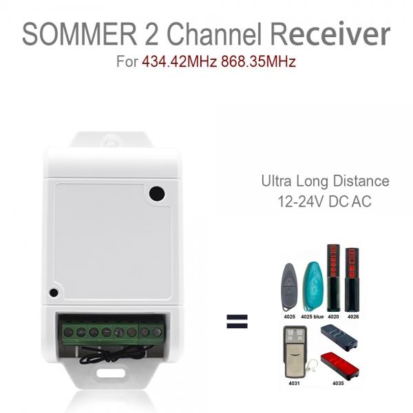 Odbiornik 2 kanałowy 434,4/868 Mhz SOMMER
